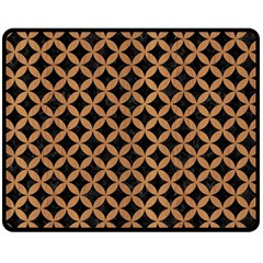 Circles3 Black Marble & Light Maple Wood Double Sided Fleece Blanket (medium)  by trendistuff