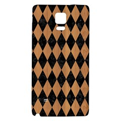 Diamond1 Black Marble & Light Maple Wood Galaxy Note 4 Back Case by trendistuff