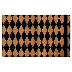 Diamond1 Black Marble & Light Maple Wood Apple Ipad Pro 9 7   Flip Case by trendistuff