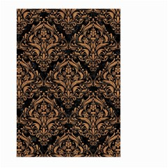 Damask1 Black Marble & Light Maple Wood Large Garden Flag (two Sides) by trendistuff