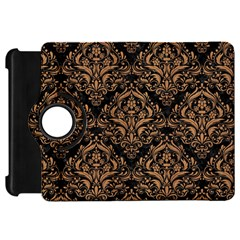 Damask1 Black Marble & Light Maple Wood Kindle Fire Hd 7  by trendistuff