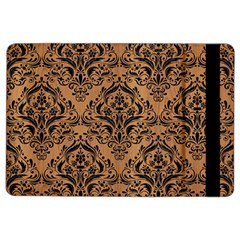 Damask1 Black Marble & Light Maple Wood (r) Ipad Air 2 Flip by trendistuff