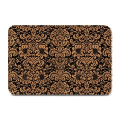 Damask2 Black Marble & Light Maple Wood Plate Mats by trendistuff