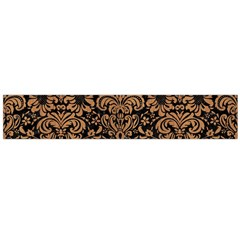 Damask2 Black Marble & Light Maple Wood Flano Scarf (large) by trendistuff