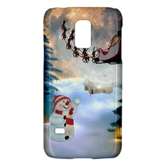 Christmas, Snowman With Santa Claus And Reindeer Galaxy S5 Mini by FantasyWorld7