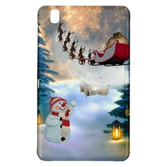 Christmas, Snowman With Santa Claus And Reindeer Samsung Galaxy Tab Pro 8 4 Hardshell Case by FantasyWorld7
