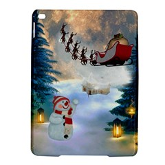 Christmas, Snowman With Santa Claus And Reindeer Ipad Air 2 Hardshell Cases by FantasyWorld7