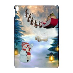 Christmas, Snowman With Santa Claus And Reindeer Apple Ipad Pro 10 5   Hardshell Case by FantasyWorld7
