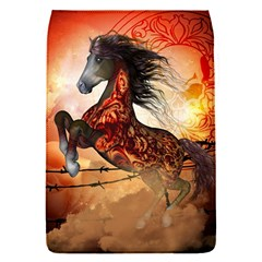 Awesome Creepy Running Horse With Skulls Flap Covers (s)  by FantasyWorld7