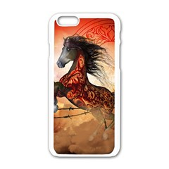 Awesome Creepy Running Horse With Skulls Apple Iphone 6/6s White Enamel Case by FantasyWorld7
