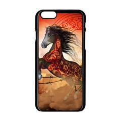 Awesome Creepy Running Horse With Skulls Apple Iphone 6/6s Black Enamel Case by FantasyWorld7
