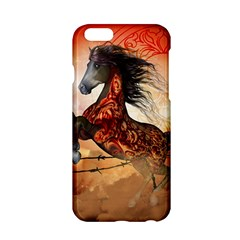 Awesome Creepy Running Horse With Skulls Apple Iphone 6/6s Hardshell Case by FantasyWorld7
