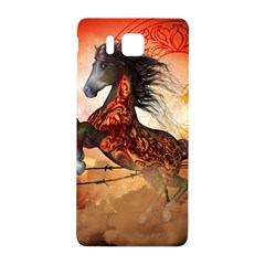 Awesome Creepy Running Horse With Skulls Samsung Galaxy Alpha Hardshell Back Case by FantasyWorld7