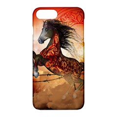 Awesome Creepy Running Horse With Skulls Apple Iphone 7 Plus Hardshell Case by FantasyWorld7