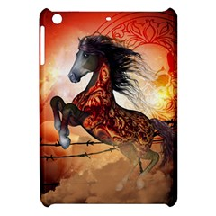 Awesome Creepy Running Horse With Skulls Apple Ipad Mini Hardshell Case by FantasyWorld7