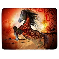 Awesome Creepy Running Horse With Skulls Samsung Galaxy Tab 7  P1000 Flip Case by FantasyWorld7