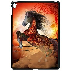 Awesome Creepy Running Horse With Skulls Apple Ipad Pro 9 7   Black Seamless Case by FantasyWorld7