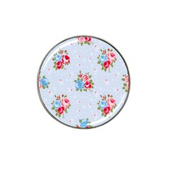 Cute Shabby Chic Floral Pattern Hat Clip Ball Marker by 8fugoso