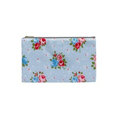 Cute Shabby Chic Floral Pattern Cosmetic Bag (small)  by 8fugoso