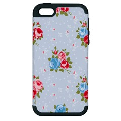 Cute Shabby Chic Floral Pattern Apple Iphone 5 Hardshell Case (pc+silicone) by Love888