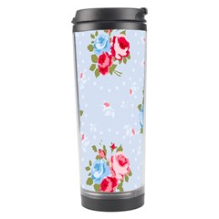 Cute Shabby Chic Floral Pattern Travel Tumbler by 8fugoso