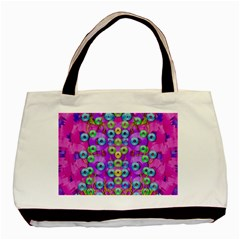 Festive Metal And Gold In Pop Art Basic Tote Bag by pepitasart