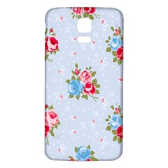 Cute Shabby Chic Floral Pattern Samsung Galaxy S5 Back Case (white) by 8fugoso