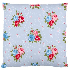 Cute Shabby Chic Floral Pattern Large Flano Cushion Case (one Side) by Love888