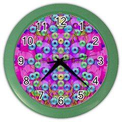 Festive Metal And Gold In Pop Art Color Wall Clocks by pepitasart