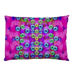 Festive Metal And Gold In Pop Art Pillow Case by pepitasart