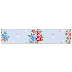 Cute Shabby Chic Floral Pattern Flano Scarf (small) by 8fugoso