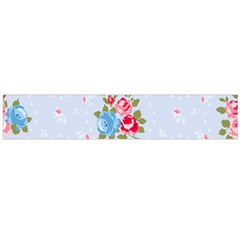 Cute Shabby Chic Floral Pattern Flano Scarf (large) by 8fugoso