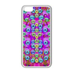 Festive Metal And Gold In Pop Art Apple Iphone 5c Seamless Case (white) by pepitasart