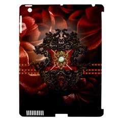 Wonderful Floral Design With Diamond Apple Ipad 3/4 Hardshell Case (compatible With Smart Cover) by FantasyWorld7