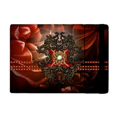Wonderful Floral Design With Diamond Apple Ipad Mini Flip Case by FantasyWorld7