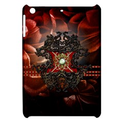 Wonderful Floral Design With Diamond Apple Ipad Mini Hardshell Case by FantasyWorld7