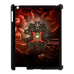 Wonderful Floral Design With Diamond Apple Ipad 3/4 Case (black) by FantasyWorld7