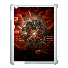 Wonderful Floral Design With Diamond Apple Ipad 3/4 Case (white) by FantasyWorld7