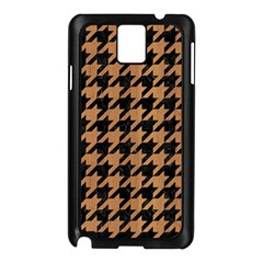 Houndstooth1 Black Marble & Light Maple Wood Samsung Galaxy Note 3 N9005 Case (black) by trendistuff