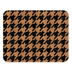 Houndstooth1 Black Marble & Light Maple Wood Double Sided Flano Blanket (large)  by trendistuff