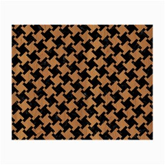 Houndstooth2 Black Marble & Light Maple Wood Small Glasses Cloth by trendistuff