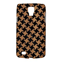 Houndstooth2 Black Marble & Light Maple Wood Galaxy S4 Active
