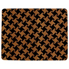Houndstooth2 Black Marble & Light Maple Wood Jigsaw Puzzle Photo Stand (rectangular) by trendistuff