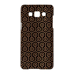 Hexagon1 Black Marble & Light Maple Wood Samsung Galaxy A5 Hardshell Case  by trendistuff