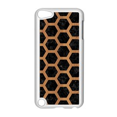 Hexagon2 Black Marble & Light Maple Wood Apple Ipod Touch 5 Case (white) by trendistuff