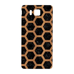 Hexagon2 Black Marble & Light Maple Wood Samsung Galaxy Alpha Hardshell Back Case by trendistuff