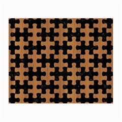Puzzle1 Black Marble & Light Maple Wood Small Glasses Cloth by trendistuff
