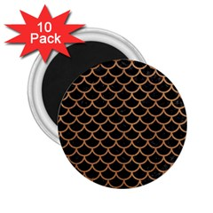 Scales1 Black Marble & Light Maple Wood 2 25  Magnets (10 Pack)  by trendistuff