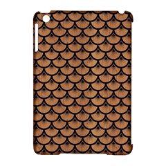 Scales3 Black Marble & Light Maple Wood (r) Apple Ipad Mini Hardshell Case (compatible With Smart Cover) by trendistuff