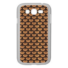 Scales3 Black Marble & Light Maple Wood (r) Samsung Galaxy Grand Duos I9082 Case (white) by trendistuff